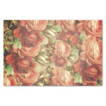 Vintage Roses Grunge Tissue Paper at Zazzle