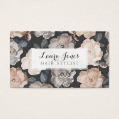 Vintage Roses Hair Stylist Appointment Cards at Zazzle