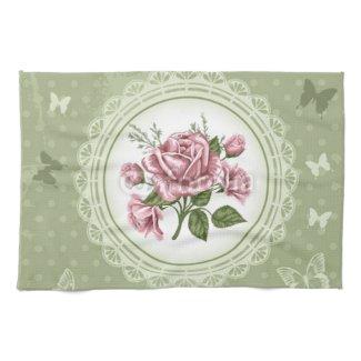 Vintage Roses Hand Towels