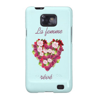 Vintage Roses Heart Samsung Galaxy S2 Barely Galaxy SII Cases