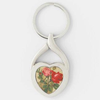 Vintage Roses in a vase Key Chains