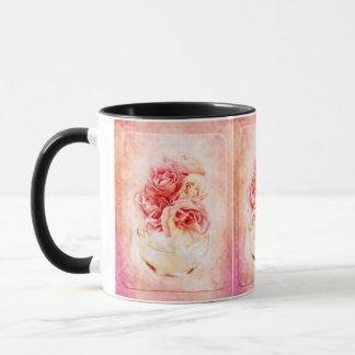 Vintage roses in the vase mug