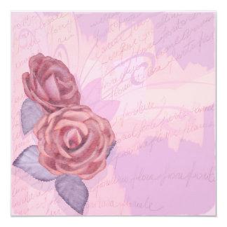 Vintage roses, invitation