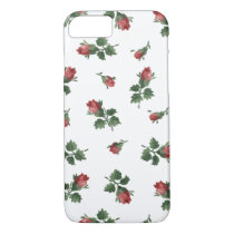 Vintage Roses iPhone 7 Case, Barely There iPhone 8/7 Case