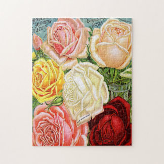 Vintage Roses Jigsaw Puzzles