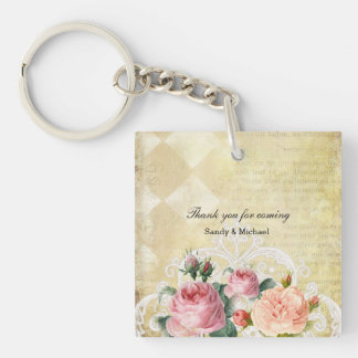 Vintage Roses Keychain