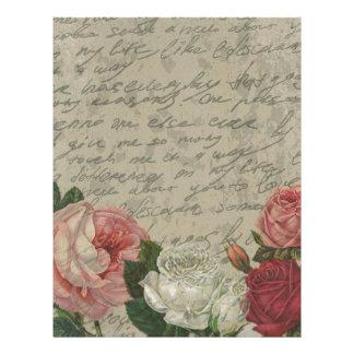 Vintage roses letterhead