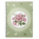 Vintage Roses Notebooks