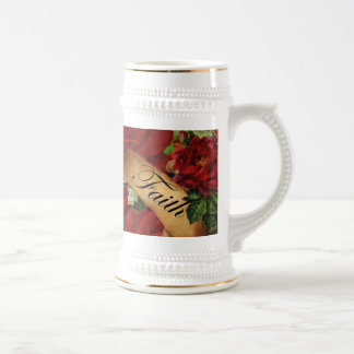 Vintage Roses of Faith Beer Stein