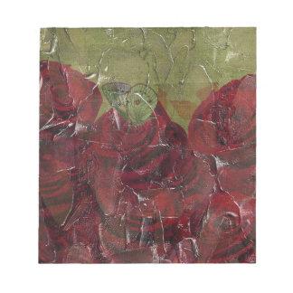 Vintage Roses Oil Grunge Notepad