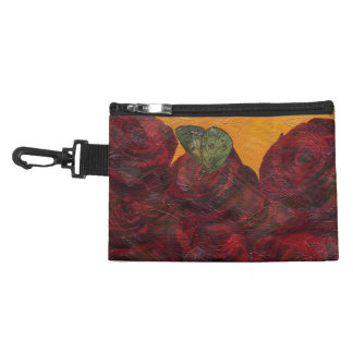 Vintage Roses Oil Painting Accessory Bags
