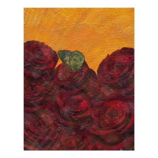 Vintage Roses Oil Painting Letterhead