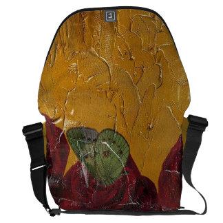 Vintage Roses Oil Pallete Texture Messenger Bag