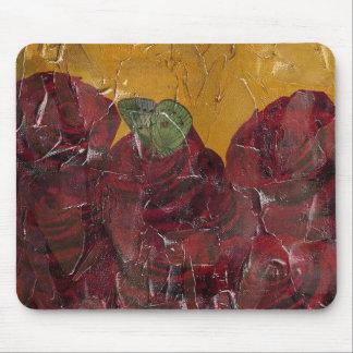 Vintage Roses Oil Pallete Texture Mouse Pad
