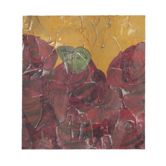 Vintage Roses Oil Pallete Texture Notepad
