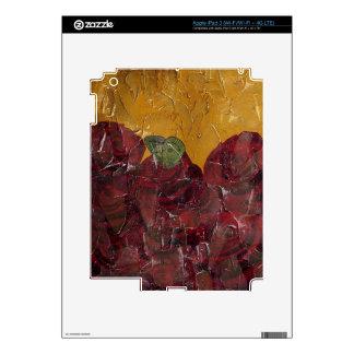 Vintage Roses Oil Pallete Texture Skins For iPad 3