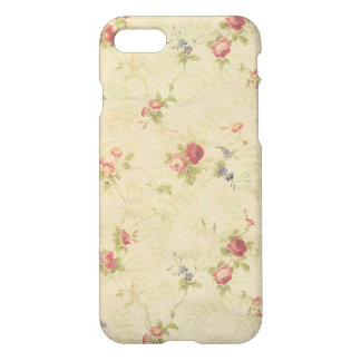 Vintage Roses old distressed fabric pattern iPhone 8/7 Case