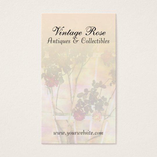 Vintage Roses on Trellis Business Card