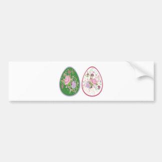 Vintage Roses Ornament on Eggs2 Bumper Sticker