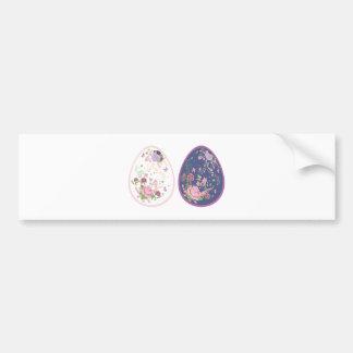 Vintage Roses Ornament on Eggs3 Bumper Sticker