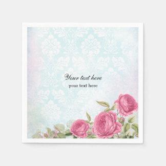 Vintage Roses Paper Napkin