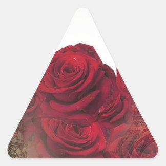 Vintage Roses Paris Triangle Sticker