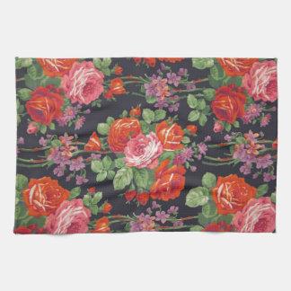 Vintage roses pattern hand towel