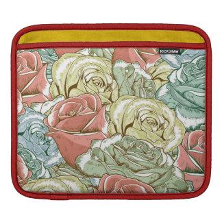Vintage Roses Pattern iPad Sleeves