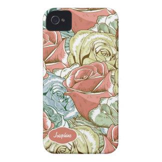 Vintage Roses Pattern iPhone 4 Case-Mate Case