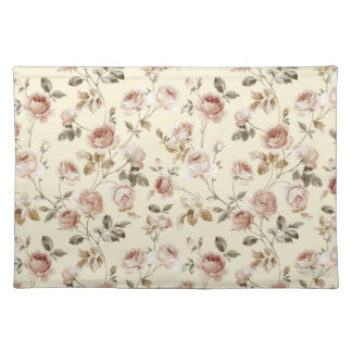 Vintage roses place mat
