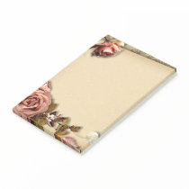Vintage roses post-it notes