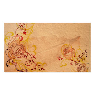 Vintage roses Profile Card Business Card Template