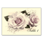 VINTAGE ROSES RECEPTION TABLE CARD