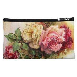 Vintage Roses Rose Bouquet Retro Style Bagettes Cosmetic Bag