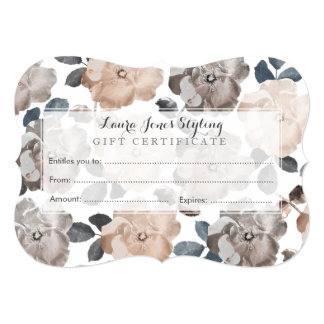 Vintage Roses Salon Gift Certificate Template