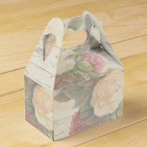 Vintage roses shabby chic wedding favor box