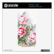 Vintage Roses Skins For Iphone 4