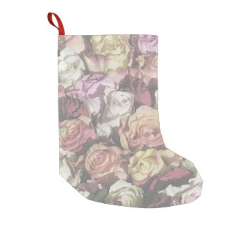 Vintage Roses Small Christmas Stocking