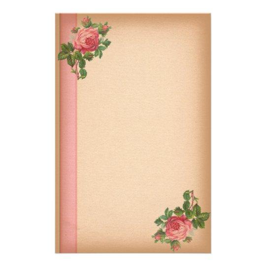 Vintage Roses Stationary Stationery