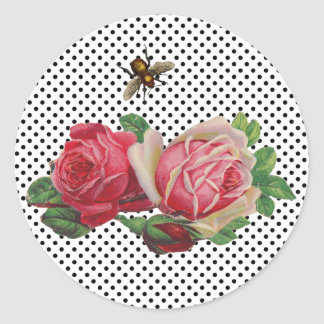 Vintage Roses Stickers