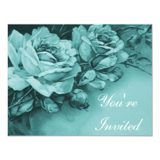 Vintage Roses Tea Party Card