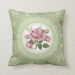 Vintage Roses Throw Pillows