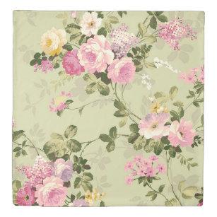 Vintage Roses Victorian Floral Duvet Cover