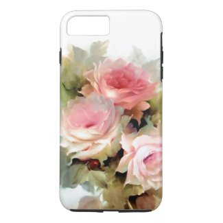 Vintage Roses Watercolor iPhone 7 Tough Phone Case