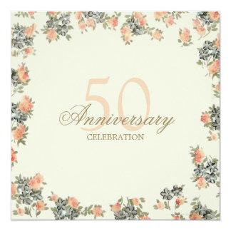 Vintage Roses - wedding anniversary invitation