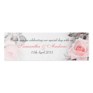 Vintage Roses Wedding Mini Favour Tags
