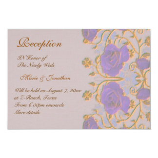 Vintage roses Wedding Reception Card