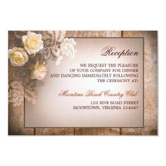 vintage roses wedding reception design card