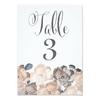 """Vintage Roses Wedding Table Number Cards 4.5"""" X 6.25"""" Invitation Card"""