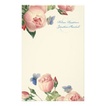 Vintage Roses Wedding Thank You Stationery